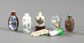 Group Of Seven Chinese Snuff Bottles, 20th C., One A