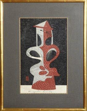 """Kiyoshi Saito (1907-1997, Japanese), """"clay Image,"""" 20th"""