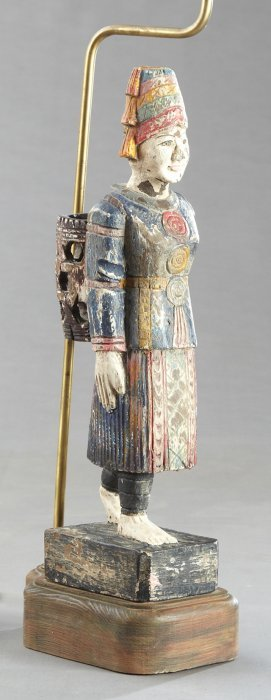 Polychromed Indonesian Figure, Early 20th C., Of A