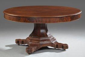 American Empire Flame Mahogany Banquet Dining Table,