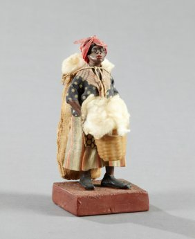 Vargas Family Wax Figure Of A Female Cotton Picker,