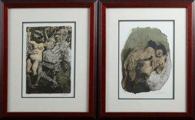 Federico Castellon (1914-1971, Spain), Erotica,