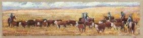 "Jean Crow-humphrey (texas), ""drving The Herd,"" 20th C.,"