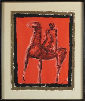 "Marino Marini (1901-1980), ""horse And Rider,"" 1955,"