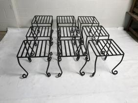 Lot Of 9 Iron Stools