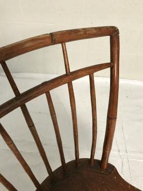 Pair Antique Birdcage Windsor Chairs
