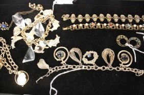 Box Lot Vintage Victorian Jewelry