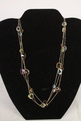 Precious Stones Necklace Long & Short