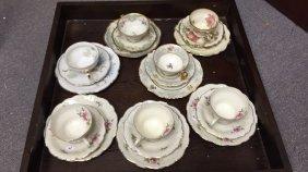 21 Piece Tea Cups & Plates Set