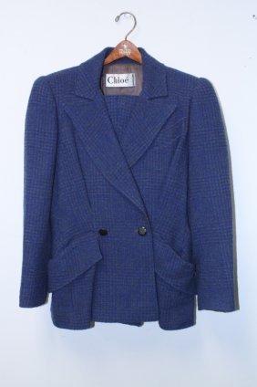 Chloe Vintage Jacket Pants Wool
