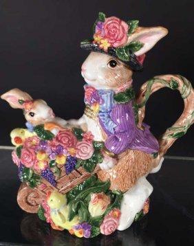 Fitz And Floyd Bunny Rabbit Tea Pot