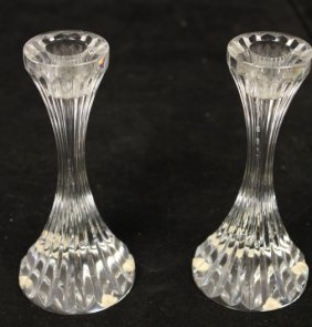 Pair Baccarat Crystal Candlesticks