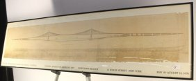 Framed Print Building Brooklyn Bridge