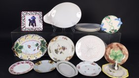 Group Lot Of 18 Vintage Plates
