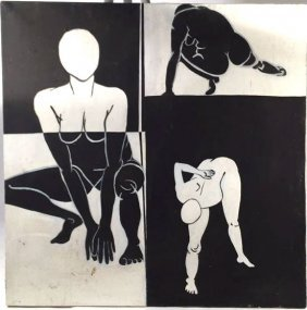 Black And White Nudes On Canvas