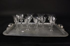 Etched Vintage Crystal Stemware And More Group