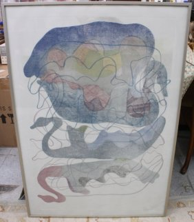 Ruth Slow 1984, Abstract Signed Litho