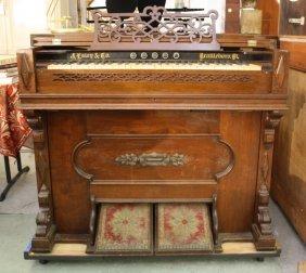 J. Esty 7 Co Antique Cottage Organ