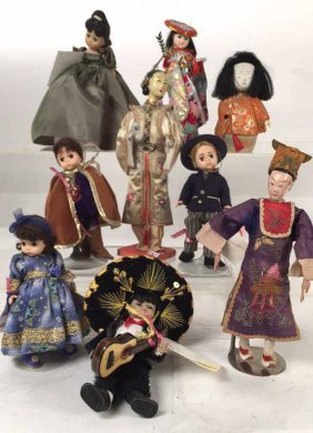 Group Lot 9 Display Dolls