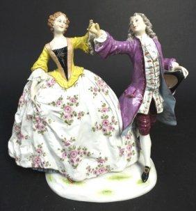 Antique Dresden Porcelain Figure Of A Couple