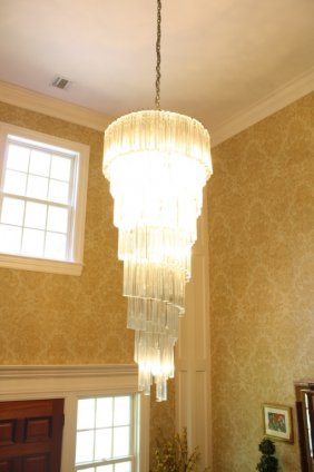 Palace Size Italian Crystal Chandelier Mid Century