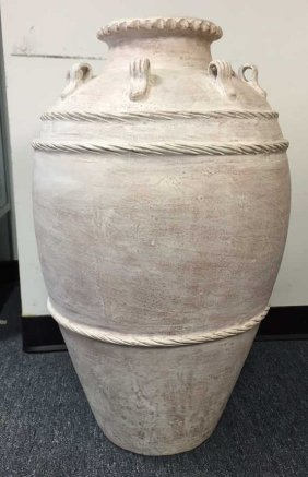 Large Pottery Floor Vase