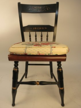 Jordan Marsh Co Hand Painted Side Chair Early American