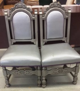 Pair Of Spanish Renaissance Style Side Chairs Pair Of