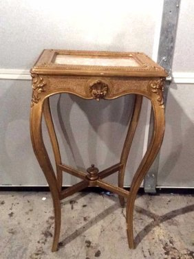 Decorative Gold Painted Wooden Corner Table This