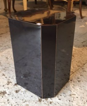 Black Formica Sculpture Pedestal Eight Sides Measures