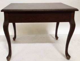 Mahogany End Table With Cabriolet Style Legs A Mahogany