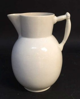 Liverpool Marked White Pitcher Vase Liverpool Marked