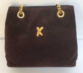 Brown Suede Paloma Picasso Purse Brown Suede Paloma