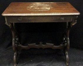 Vintage Desk With One Drawer Vintage Desk With One
