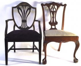 Group Lot Of Vintage Chair And Mid Century Chair One