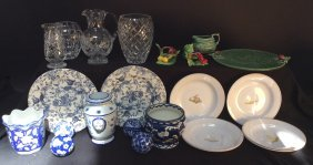 27 Piece Group Lot Of Mixed Items Cut Crystal Pitcher