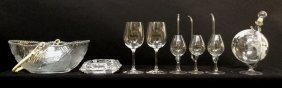 8 Piece Glass Group Lot Of Wine &dining Room Items 3