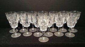 Crystal Stemmed Water Glasses Set Of 14 Crystal Stemmed