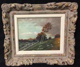 Signed Landscape Oil Painting Signed Mschupask