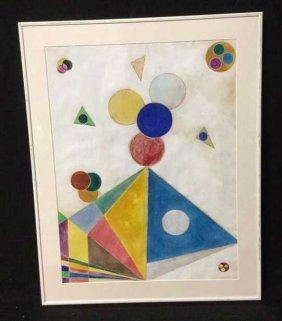 Patrizia Levi 87 Geometric Art Colorful And White