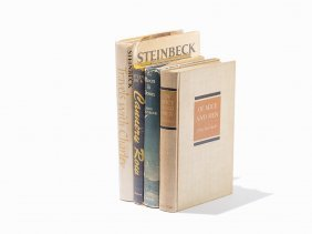 John Steinbeck, Four First Trade Editions, Ny, 1937-45