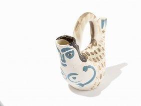 Pablo Picasso, 'figure De Proue', Ceramic Pitcher, 1952