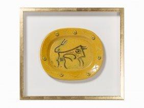 Pablo Picasso, 'taureau Gravé', Ceramic Plate, 1947