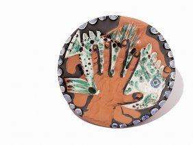 Pablo Picasso, 'mains Au Poisson', Ceramic Plate, 1953