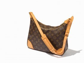 Louis Vuitton, Brown Monogram Boulogne Shoulder Bag,