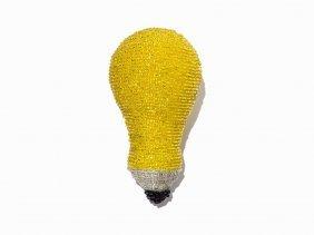 Liza Lou, 'light Bulb', Cast Polyester Resin & Beads,