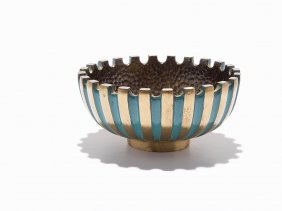 Pal-bell Co., Enameled Bronze Dish, Israel, Ca. 1948