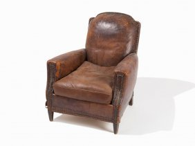 Gentleman's Leather Club Chair, Ca. 1930