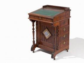 English Arts & Crafts Style Writing Cabinet, Ca. 1900