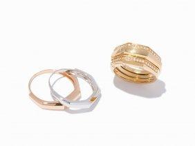 Audemars Piguet 18k Yellow, White And Rose Gold Diamond